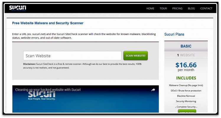Sucuri Website Malware and Security Scanner